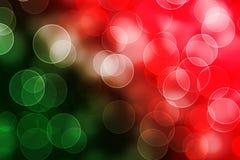 Fundo brilhante vermelho do verde abstrato do bokeh Fotos de Stock