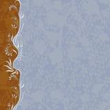 fundo Brown-azul Ilustração Royalty Free