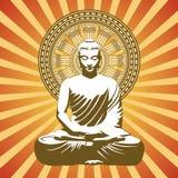 Fundo budista Imagens de Stock