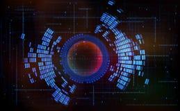Fundo-código abstrato zero um do tecnologia-estilo ilustração stock