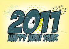 Fundo cómico da véspera de ano novo feliz Imagens de Stock