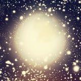 Fundo cósmico com luzes Defocused do twinkling de Bokeh ilustração do vetor