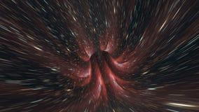 Fundo cósmico da galáxia do laço da urdidura ilustração stock