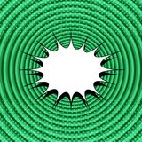 Fundo cômico do verde da página Foto de Stock Royalty Free