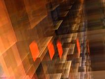 Fundo cúbico alaranjado-marrom abstrato Imagens de Stock Royalty Free