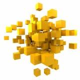 Fundo cúbico Orange-yellow Imagens de Stock