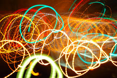 Fundo caótico das luzes Fotografia de Stock Royalty Free