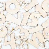 Fundo caótico dos números de zero a nove Fundo com números Texturas dos números imagens de stock royalty free