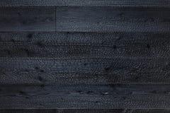 Fundo carbonizado da textura das placas de madeira fotos de stock
