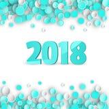 Fundo carnaval azul dos confetes Imagem de Stock Royalty Free