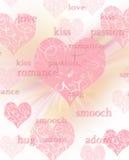 Fundo/cartão bonitos do dia dos Valentim com escrita Fotos de Stock Royalty Free