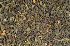 Fundo - chá verde Foto de Stock