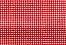 Fundo checkered branco e vermelho Imagens de Stock Royalty Free