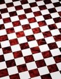 Fundo Checkered de mármore vermelho Fotos de Stock