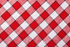 Fundo Checkered de matéria têxtil Foto de Stock Royalty Free
