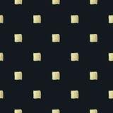 Fundo Checkered Pintura dourada BG sem emenda Fotografia de Stock