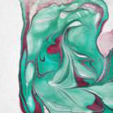 Fundo chique gasto com cor marbeled ilustração stock