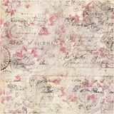 Fundo chique gasto floral do vintage com roteiro imagens de stock