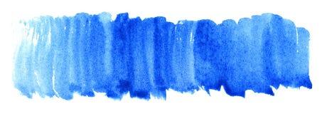 Fundo ciano azul da textura do ponto da aquarela Fotografia de Stock