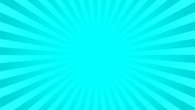 Fundo ciano brilhante dos raios Foto de Stock