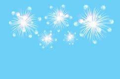 Fundo ciano pastel da cor com fogos-de-artifício imagem de stock royalty free