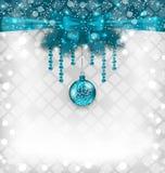 Fundo cintilante com elementos tradicionais do Natal Fotografia de Stock Royalty Free