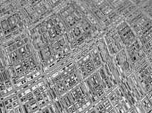 Fundo cinzento abstrato do fractal, projeto abstrato ilustração do vetor