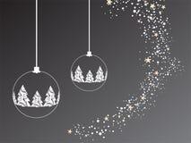 Fundo cinzento do Natal Ilustração Royalty Free