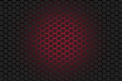 Fundo cinzento e vermelho do hexágono Fotos de Stock