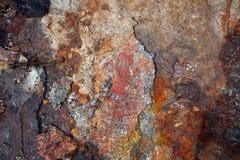 Fundo cinzento envelhecido obscuridade da textura da parede da oxidação Imagens de Stock