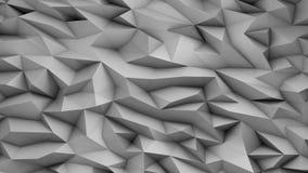 Fundo cinzento geométrico feito de figuras afiadas, arte generative, ilustração 3D Fotografia de Stock