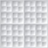 Fundo cinzento quadrado geométrico abstrato do vetor Fotografia de Stock
