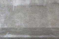 Fundo cinzento vazio da mostra do produto do muro de cimento fotografia de stock