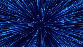 Fundo circular abstrato da velocidade Linhas din?micas teste padr?o de Starburst Fundo abstrato do fluxo de dados rendi??o 3d ilustração do vetor