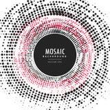 Fundo circular abstrato de intervalo mínimo do quadro do mosaico Fotografia de Stock Royalty Free