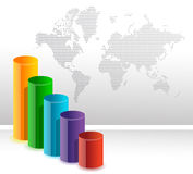 Fundo circular colorido do gráfico de barra do negócio Imagens de Stock