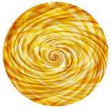 Fundo circular dourado do vintage do redemoinho Fotos de Stock Royalty Free
