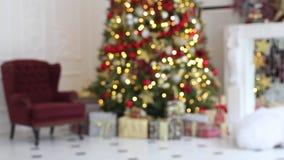 Fundo clássico do interior do White Christmas filme