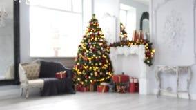 Fundo clássico do interior do White Christmas video estoque