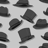 Fundo clássico sem emenda do teste padrão dos chapéus do vetor Imagens de Stock Royalty Free