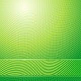 Fundo claro abstrato das ondas verdes ilustração royalty free