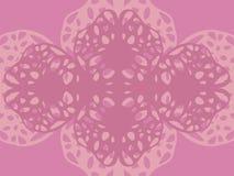 Fundo claro bonito de repetição delicado do contorno modelado da cor cor-de-rosa ilustração stock