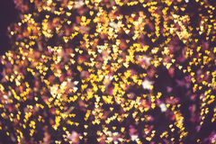 Fundo claro do dia de Valentim dos corações abstratos Defocused Fotos de Stock