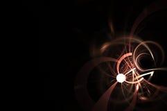 Fundo claro do fractal do círculo Foto de Stock Royalty Free