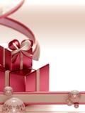 Fundo claro do Natal Fotografia de Stock Royalty Free