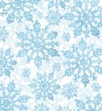 Fundo claro dos flocos de neve azuis Foto de Stock Royalty Free