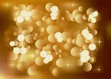 Fundo claro dourado do Twinkling Imagem de Stock Royalty Free