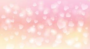 Fundo claro e macio dos corações Imagem de Stock Royalty Free