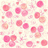 Fundo claro floral sem emenda do vetor Imagens de Stock Royalty Free