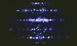 Fundo claro instantâneo da câmera do encanto do luxo do brilho da faísca de Bokeh Natal mágico do partido circular defocused do s ilustração do vetor